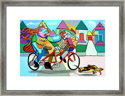 Walking The Dog Framed Print by Anthony Falbo