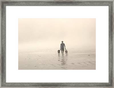 Walking The Dog Florentia Framed Print