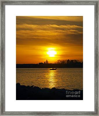 Walking The Dog Framed Print by Joe Geraci