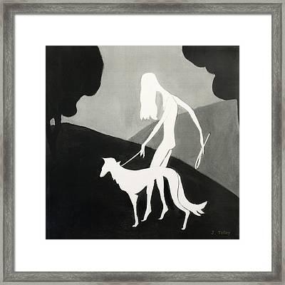Walking The Dog Framed Print