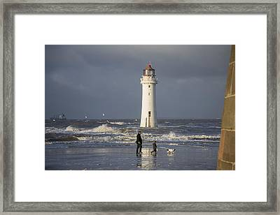Walking The Dog Framed Print by Spikey Mouse Photography