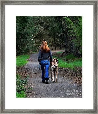 Walking The Dog Framed Print