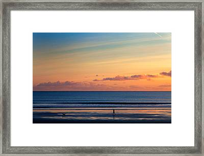 Walking The Dog, Tramore, County Framed Print by Panoramic Images