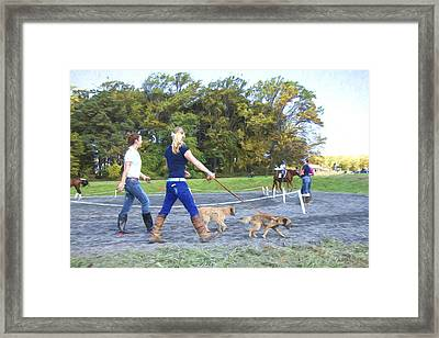 Walking The Dogs Framed Print by Alice Gipson