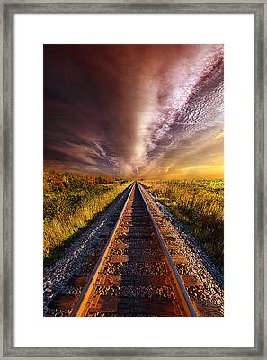 Walking The Line Till The Morning Shines Framed Print by Phil Koch