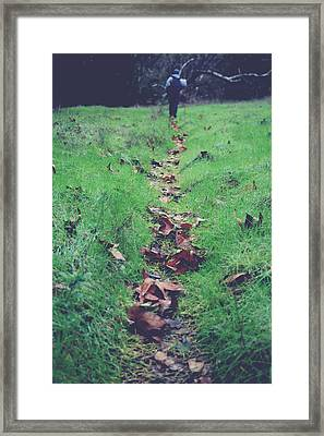 Walking The Path Less Traveled Framed Print