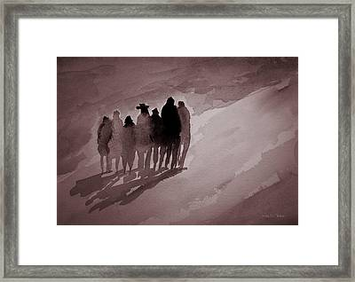 Walking The Path Framed Print