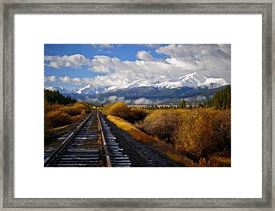 Walking The Rails Framed Print by Jeremy Rhoades