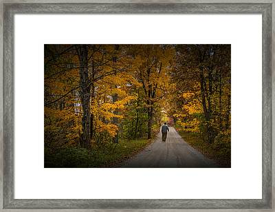 Walking The Road Less Traveled Framed Print by Randall Nyhof