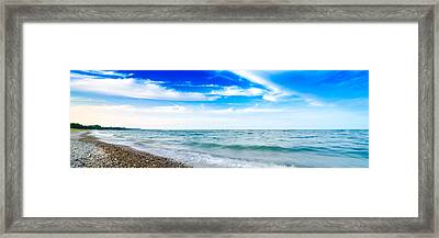 Framed Print featuring the photograph Walking The Shore - Extended by Steven Santamour
