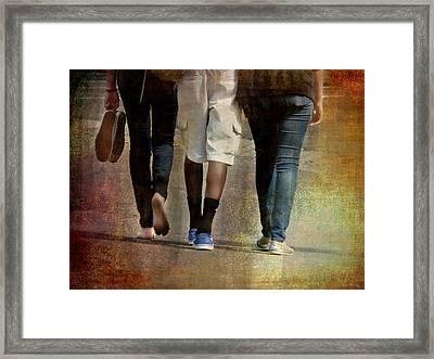 Walking The Walk Framed Print by Lin Haring