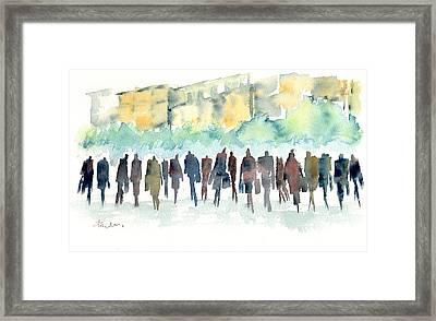 Walking The Walk Framed Print by Paul K Taylor