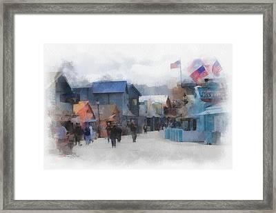 Walking The Wharf Framed Print