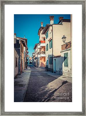 walking through Grado - through the past Framed Print