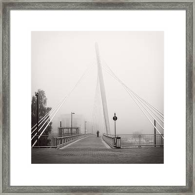 Framed Print featuring the photograph Walking Through The Mist by Ari Salmela