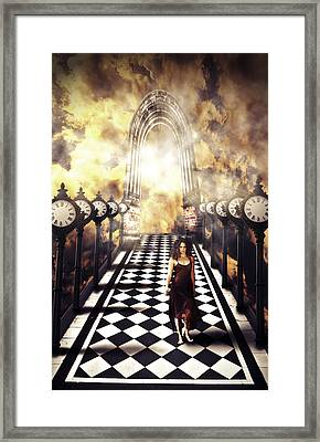 Walking Through Time Framed Print