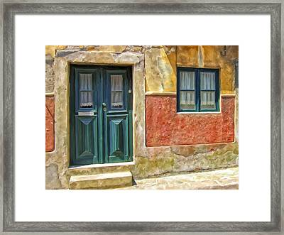 Framed Print featuring the painting Walking Through Vila De Conde by Michael Pickett