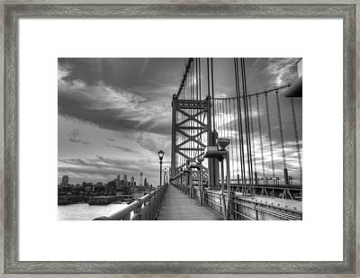 Walking To Philadelphia Framed Print