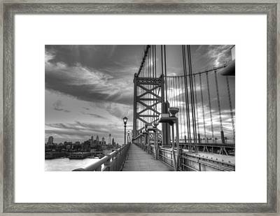 Walking To Philadelphia Framed Print by Jennifer Ancker