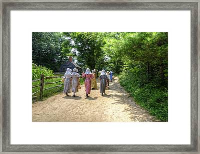Walking To School Framed Print by Donna Doherty