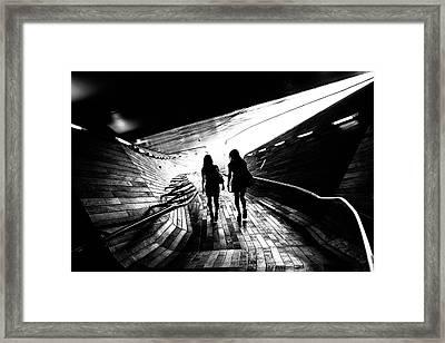 Walking Towards The Light Framed Print
