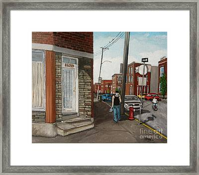 Walking Verdun In The Summer Framed Print by Reb Frost