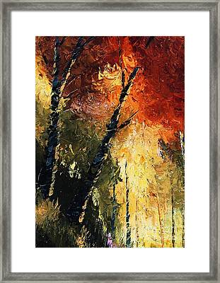 Walking With A Dream Framed Print