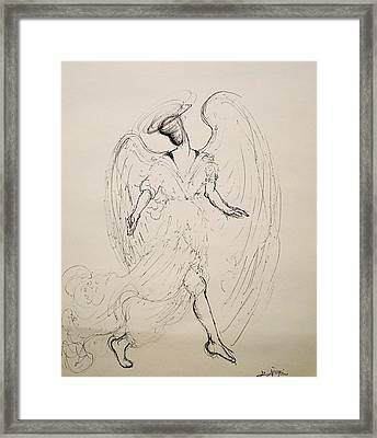 Walking With An Angel Framed Print