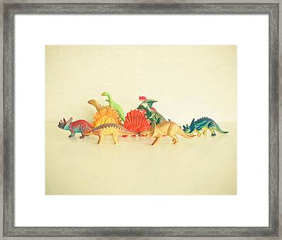 Walking With Dinosaurs Framed Print by Cassia Beck