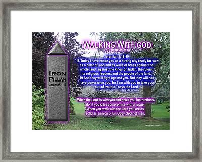 Walking With God Framed Print