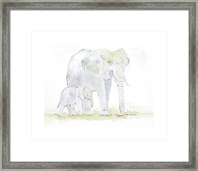 Walking With Mama Framed Print by Joan Sharron