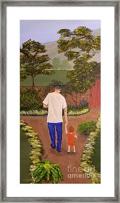 Walking With Papa Framed Print