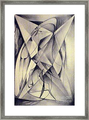 Framed Print featuring the drawing Walker Removing Frames Or Light Fighter by Mikhail Savchenko