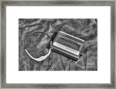 Walkman Stereo Cassette Player Framed Print
