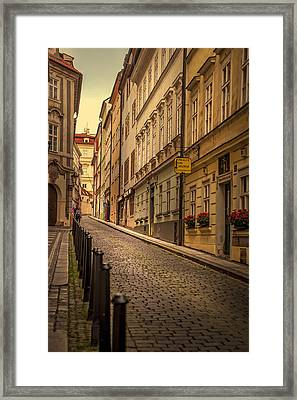 Walks Along The Old Streets Of Prague Framed Print by Jenny Rainbow