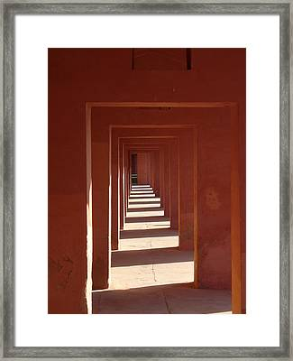 Walkway By The Taj Framed Print by Bill Mock