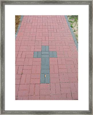 walkway of Faith Framed Print by Aaron Martens