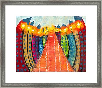 Walkway Of Whimsy Framed Print by Jessilyn Park