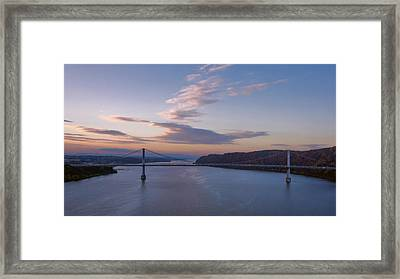 Walkway Over The Hudson Dawn Framed Print