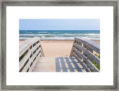 Walkway To Atlantic Beach Framed Print by Elena Elisseeva