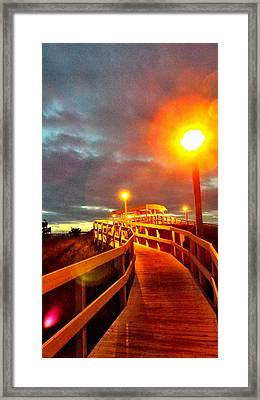 Walkway To Atlantic Framed Print by Cindy Croal