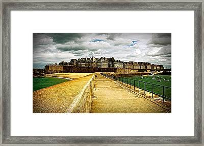Walkway To Intra Muros Framed Print