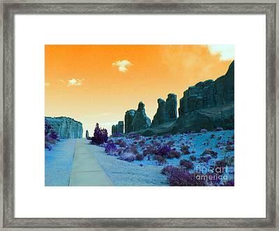 Walkway To Provenance Framed Print by Patricia Januszkiewicz