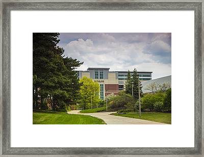 Walkway To Spartan Stadium Framed Print by John McGraw