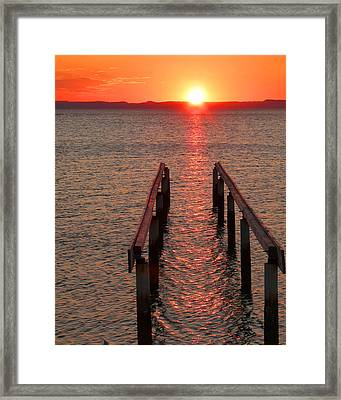Framed Print featuring the photograph Walkway To The Sun by Alan Socolik