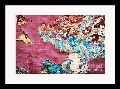 Chipping Paint Framed Prints
