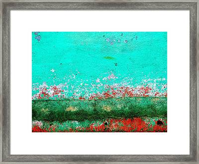 Framed Print featuring the digital art Wall Abstract 111 by Maria Huntley