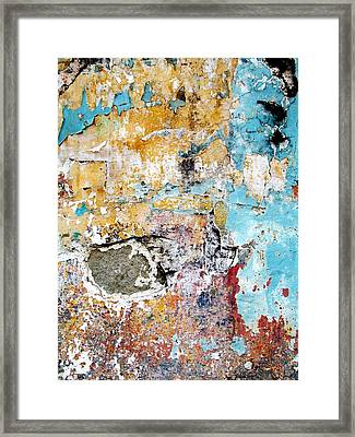 Framed Print featuring the digital art Wall Abstract 124 by Maria Huntley