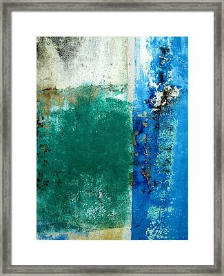 Framed Print featuring the digital art Wall Abstract 159 by Maria Huntley