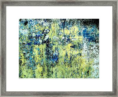 Framed Print featuring the digital art Wall Abstract 27 by Maria Huntley